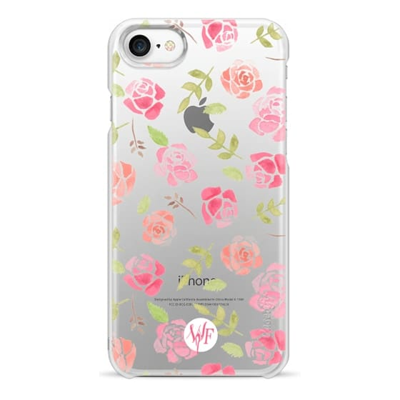 iPhone 7 Cases - Bed of Roses Transparent  - Watercolor Painted Case by Wonder Forest