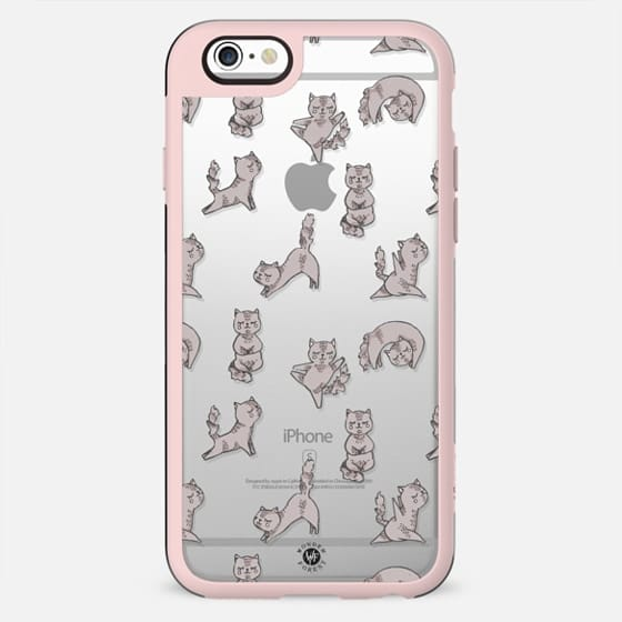 Yoga Cats Clear Case by Wonder Forest