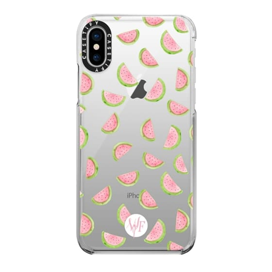 iPhone X Cases - Watercolor Watermelons - Transparent Case by Wonder Forest