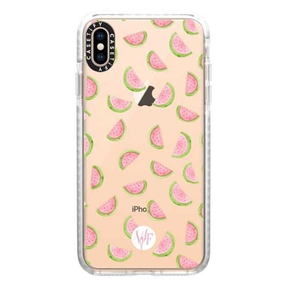 iPhone XS Max Cases - Watercolor Watermelons - Transparent Case by Wonder Forest