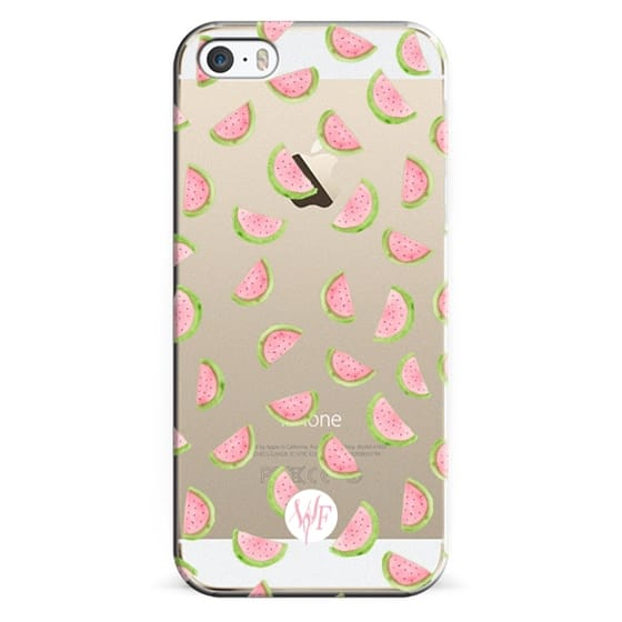 iPhone 5s Cases - Watercolor Watermelons - Transparent Case by Wonder Forest