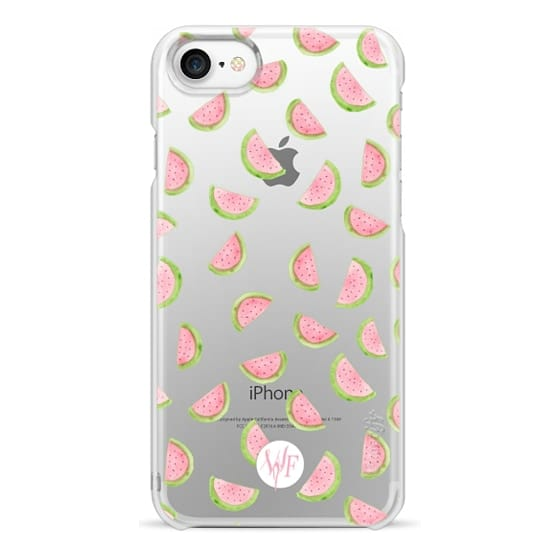 iPhone 7 Cases - Watercolor Watermelons - Transparent Case by Wonder Forest