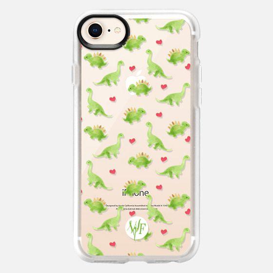 Dinosaur Love - Transparent Case by Wonder Forest - Snap Case