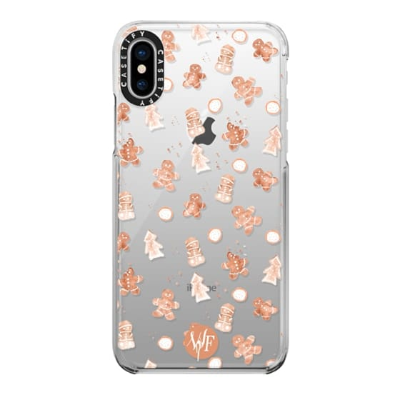 iPhone X Cases - Christmas Cookies - Transparent - Watercolour Painted Case