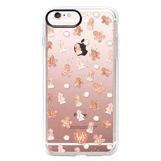 iPhone 6s Plus Cases - Christmas Cookies - Transparent - Watercolour Painted Case