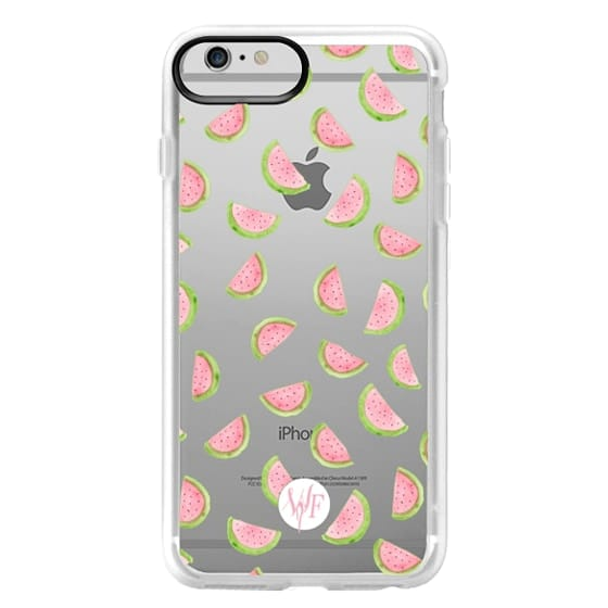 iPhone 6 Plus Cases - Watercolor Watermelons - Transparent Case by Wonder Forest