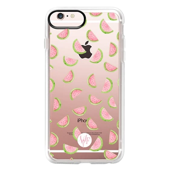 iPhone 6s Plus Cases - Watercolor Watermelons - Transparent Case by Wonder Forest