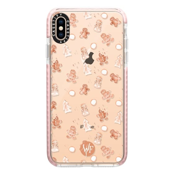 iPhone XS Max Cases - Christmas Cookies - Transparent - Watercolour Painted Case