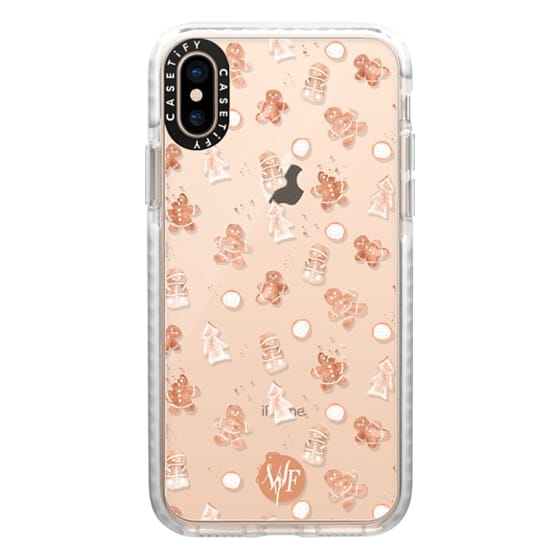 iPhone XS Cases - Christmas Cookies - Transparent - Watercolour Painted Case