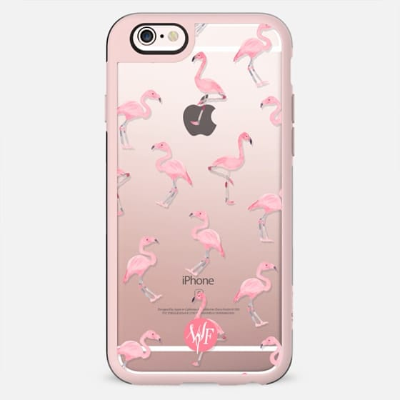 Pink Flamingos by Wonder Forest Clear Case - New Standard Case