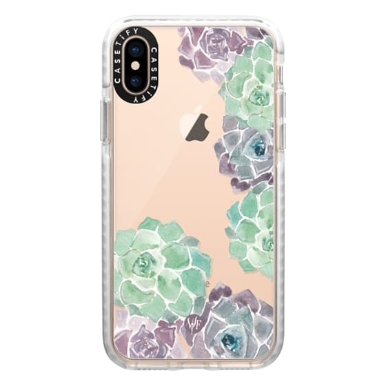 iPhone XS Cases - Sweet Succulents Case by Wonder Forest