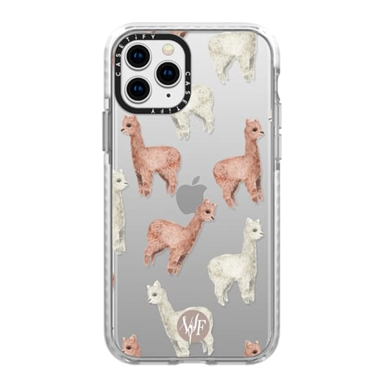 iPhone 11 Pro Cases - Allover Alpacas Clear Case by Wonder Forest