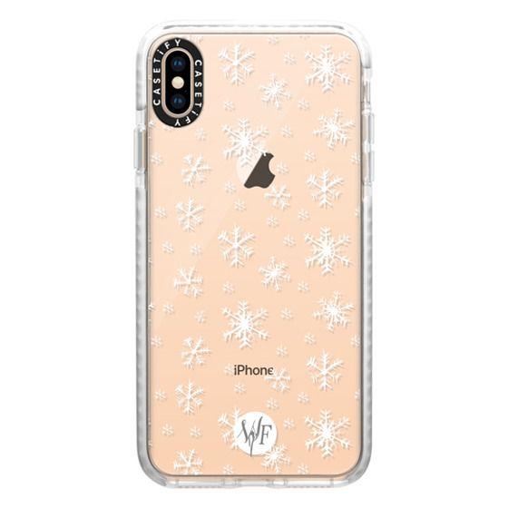 iPhone XS Max Cases - Let It Snow - Transparent - Watercolour Painted Case