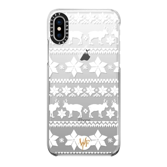 iPhone X Cases - Christmas Sweater Transparent - Watercolour Painted Case