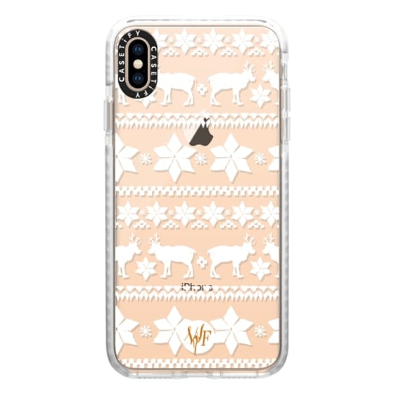 iPhone XS Max Cases - Christmas Sweater Transparent - Watercolour Painted Case