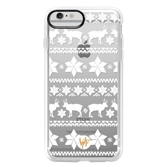 iPhone 6 Plus Cases - Christmas Sweater Transparent - Watercolour Painted Case