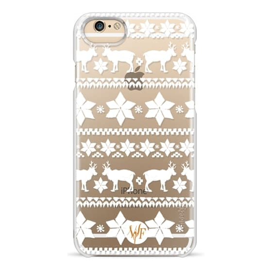 iPhone 6 Cases - Christmas Sweater Transparent - Watercolour Painted Case