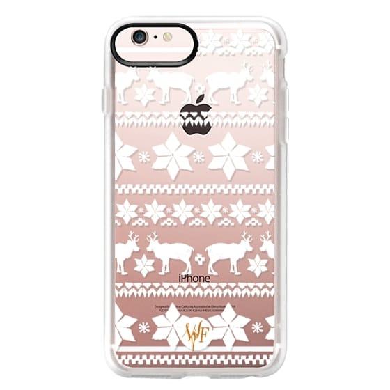 iPhone 6s Plus Cases - Christmas Sweater Transparent - Watercolour Painted Case