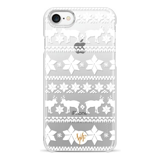 iPhone 7 Cases - Christmas Sweater Transparent - Watercolour Painted Case