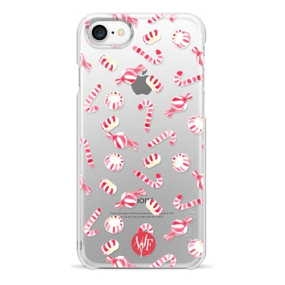 iPhone 7 Cases - Christmas Candy  - Transparent - Watercolour Painted Case
