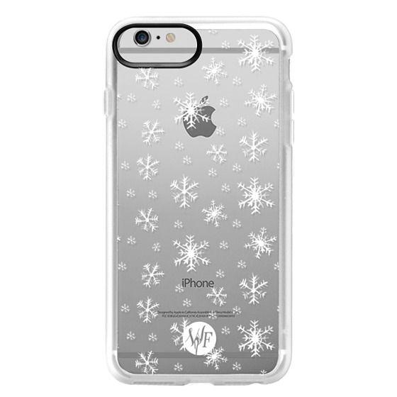 iPhone 6 Plus Cases - Let It Snow - Transparent - Watercolour Painted Case