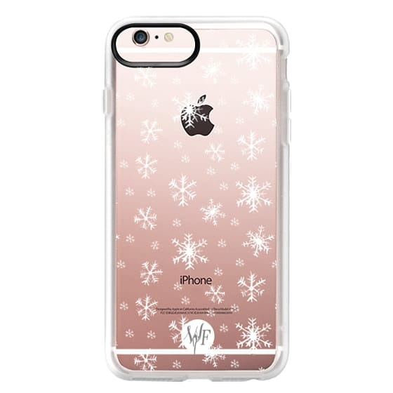 iPhone 6s Plus Cases - Let It Snow - Transparent - Watercolour Painted Case