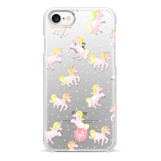 iPhone 7 Cases - Magical Unicorns Transparent Case by Wonder Forest