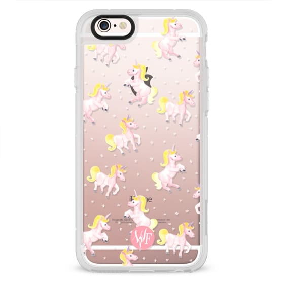 iPhone 6s Cases - Magical Unicorns Transparent Case by Wonder Forest
