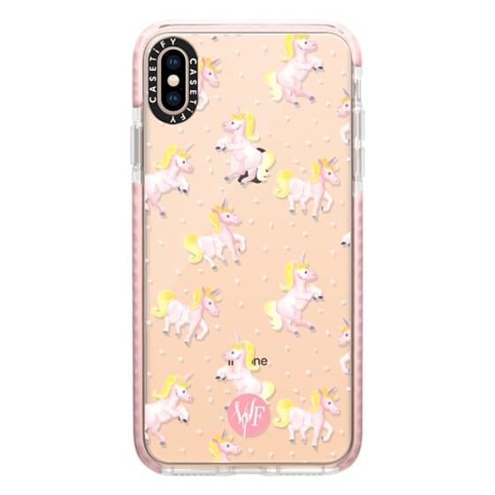 iPhone XS Max Cases - Magical Unicorns Transparent Case by Wonder Forest