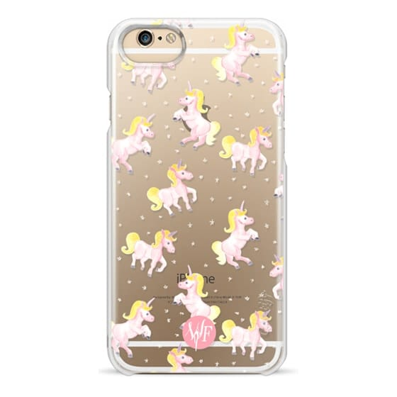 iPhone 6 Cases - Magical Unicorns Transparent Case by Wonder Forest