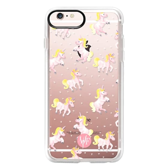 iPhone 6s Plus Cases - Magical Unicorns Transparent Case by Wonder Forest