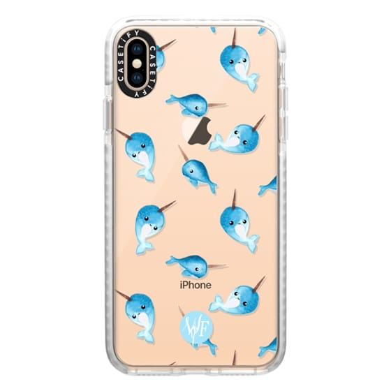 iPhone XS Max Cases - Nutty Narwhals Transparent Case by Wonder Forest