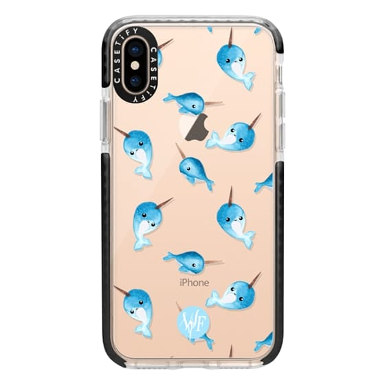 iPhone XS Cases - Nutty Narwhals Transparent Case by Wonder Forest