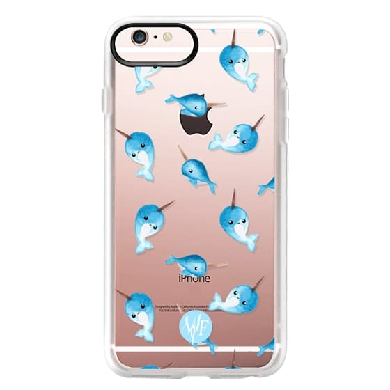 iPhone 6s Plus Cases - Nutty Narwhals Transparent Case by Wonder Forest