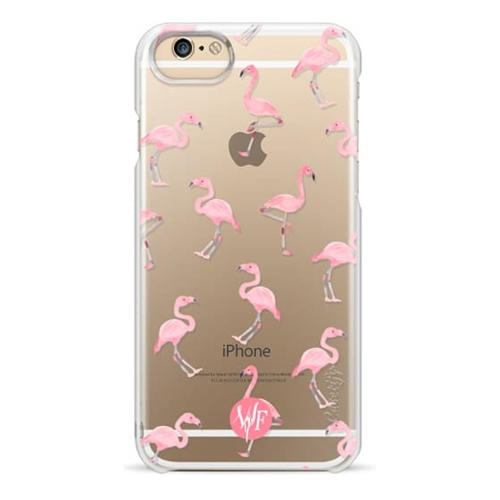 iPhone 6 Cases - Pink Flamingos by Wonder Forest Clear Case