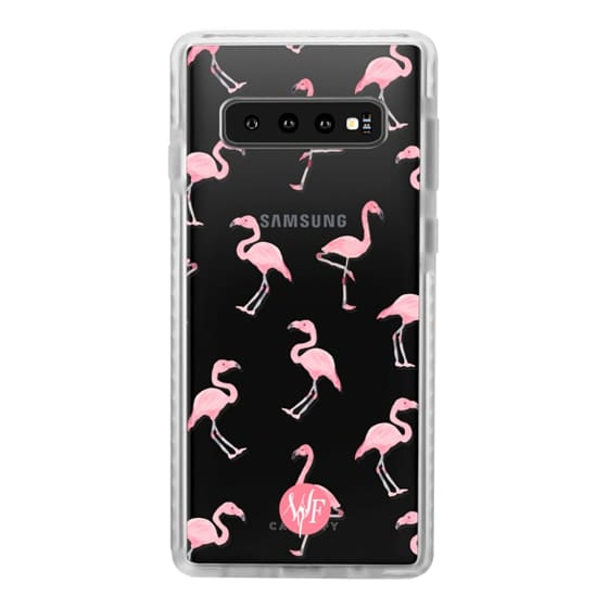Samsung Galaxy S10 Cases - Pink Flamingos by Wonder Forest Clear Case