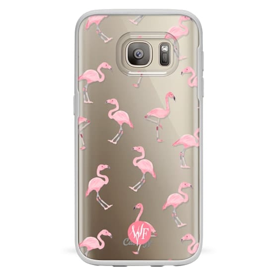 Samsung Galaxy S7 Cases - Pink Flamingos by Wonder Forest Clear Case