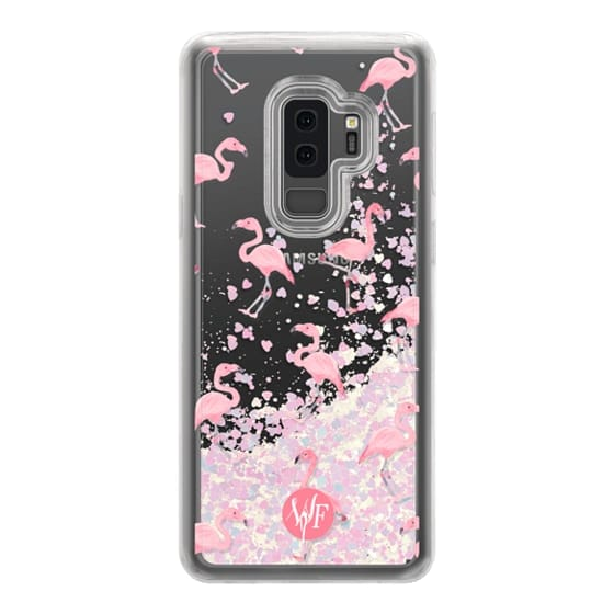 Samsung Galaxy S9 Plus Cases - Pink Flamingos by Wonder Forest Clear Case