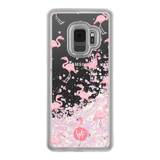 Samsung Galaxy S9 Cases - Pink Flamingos by Wonder Forest Clear Case