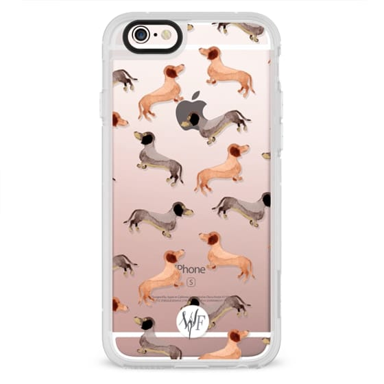 iPhone 6s Cases - Darling Dachshunds - Transparent Case by Wonder Forest