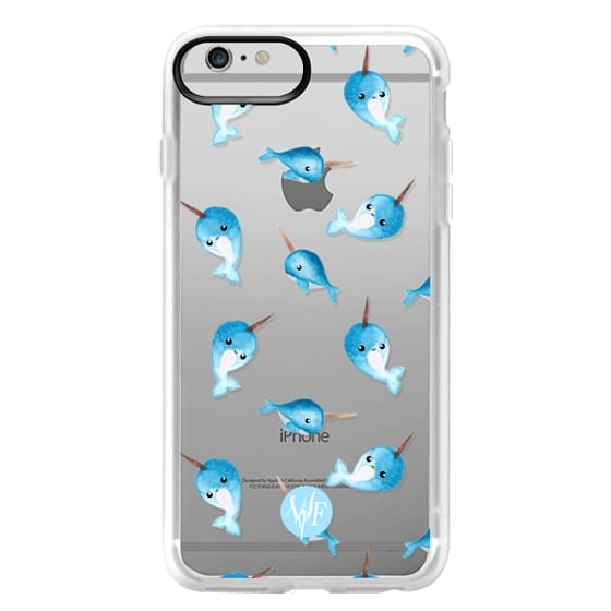 iPhone 6 Plus Cases - Nutty Narwhals Transparent Case by Wonder Forest
