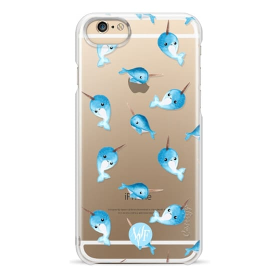 iPhone 4 Cases - Nutty Narwhals Transparent Case by Wonder Forest