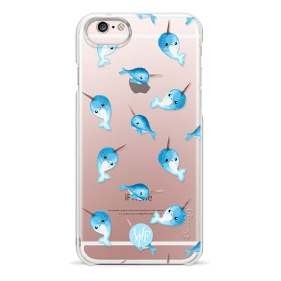 iPhone 6s Cases - Nutty Narwhals Transparent Case by Wonder Forest