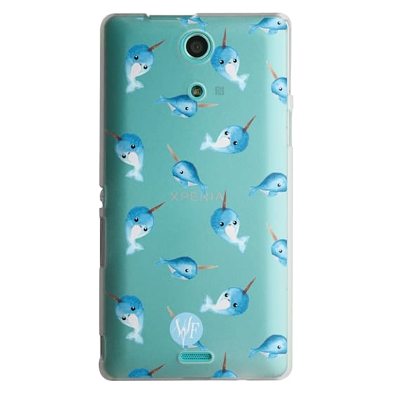 Sony Zr Cases - Nutty Narwhals Transparent Case by Wonder Forest