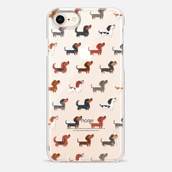 iPhone 8 Case DACHSHUNDS (Clear)