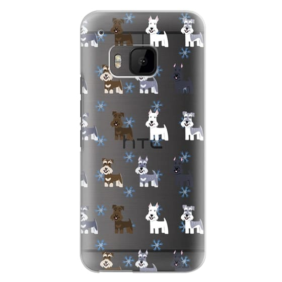 Htc One M9 Cases - Schnauzers - CLEAR