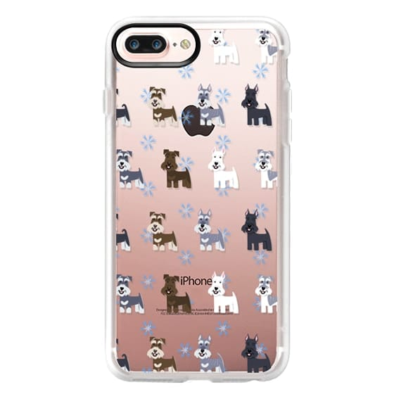 iPhone 7 Plus Cases - Schnauzers - CLEAR
