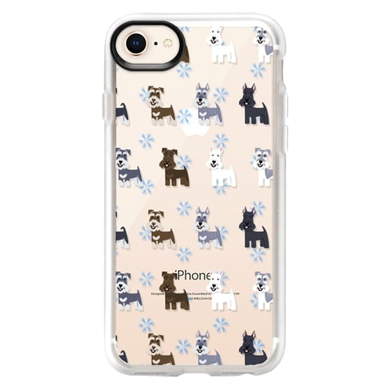 iPhone 8 Cases - Schnauzers - CLEAR
