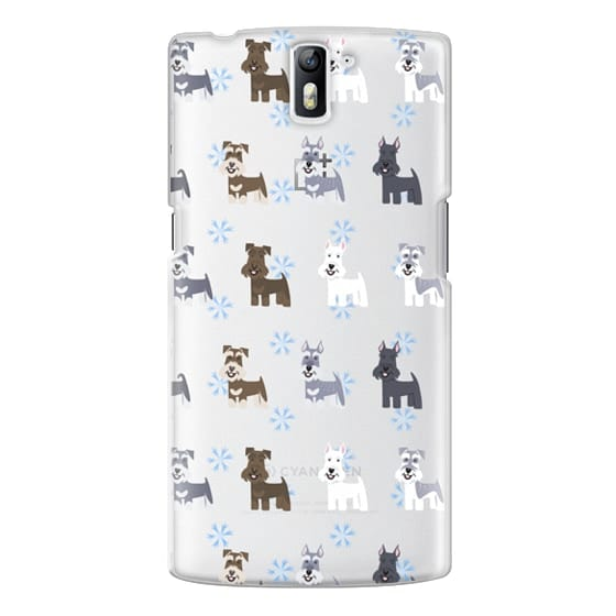 One Plus One Cases - Schnauzers - CLEAR