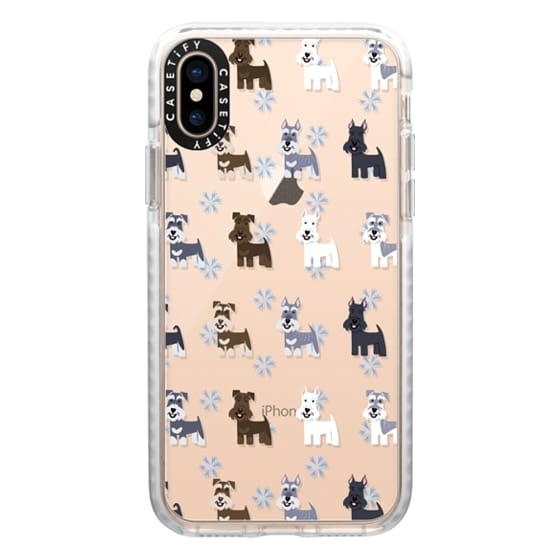 iPhone XS Cases - Schnauzers - CLEAR